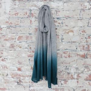 Aura Que Purna Ombre scarf teal