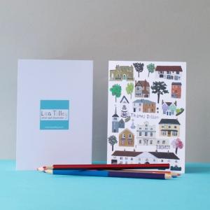 Thames-Ditton-Village-notecard