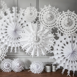 Paper snowflake decorations